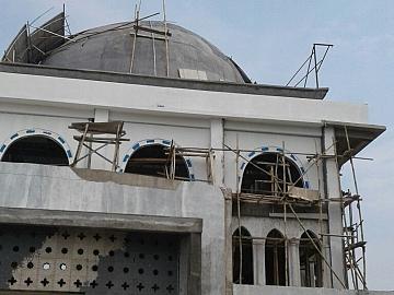 Pekerjaan Masjid Jami Pangandaran