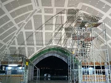 Pekerjaan Plafond Lengkung Masjid Kampus KKP Karawang