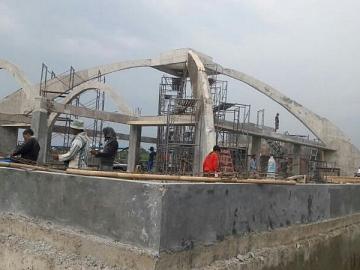 Pekerjaan ATAP LENGKUNG Masjid Kampus KKP Karawang