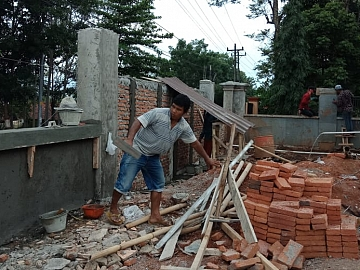 Pekerjaan Dinding dan Kolom Pagar
