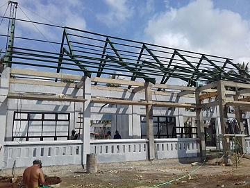Pemasangan Kuda-Kuda Baja IWF di Proyek BLK BANYUWANGI Jawa Timur